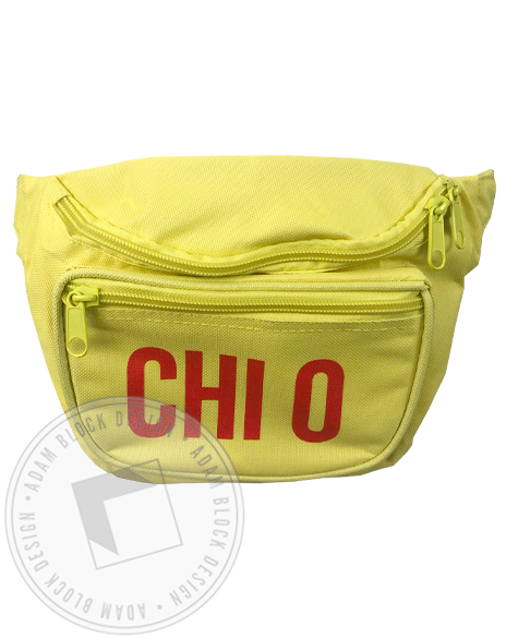 Chi Omega Neon Yellow Fanny Pack-Adam Block Design