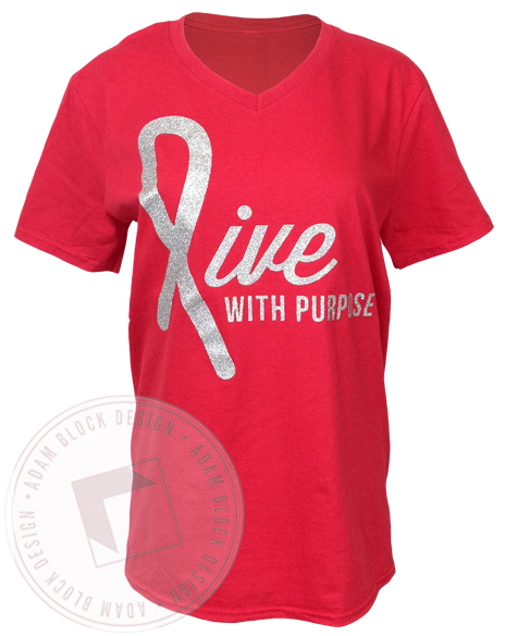 Alpha Gamma Delta Live With Purpose V-neck-gallery-Adam Block Design