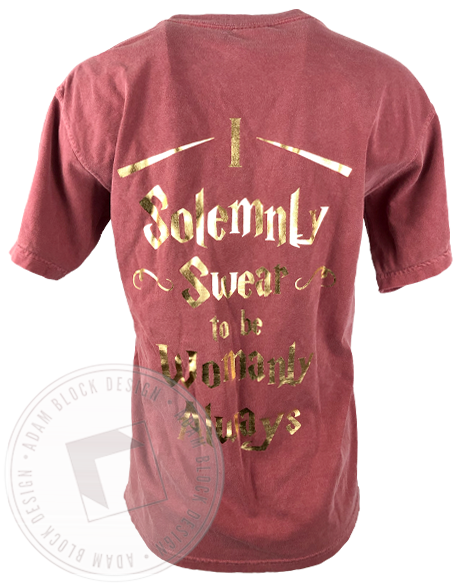Chi Omega I Solemnly Swear T-shirt-gallery-Adam Block Design