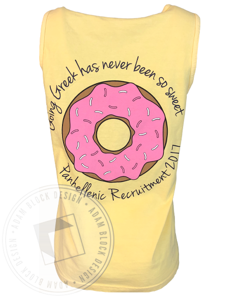 Panhellenic Council Donut Recruitment Tank-Adam Block Design