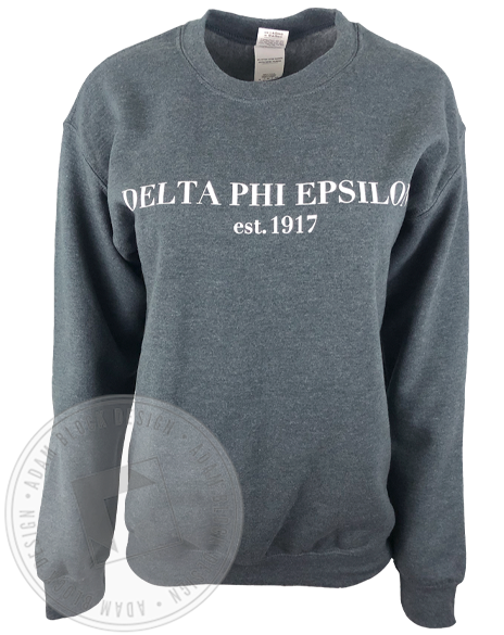 Delta Phi Epsilon 1917 Simple Sweatshirt-Adam Block Design