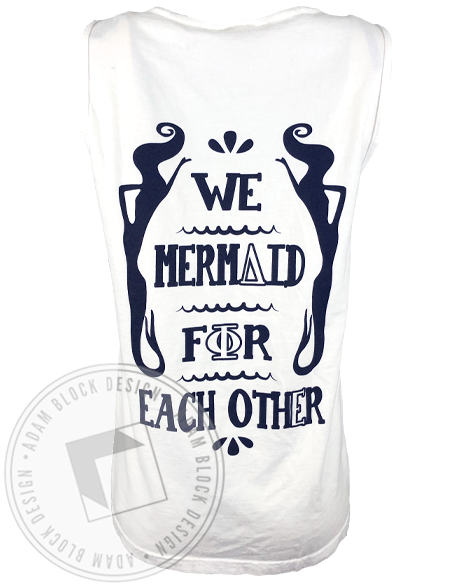 Delta Phi Epsilon Mermaid For Each Other Tank-Adam Block Design
