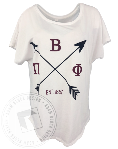 Pi Beta Phi Arrow T-shirt-Adam Block Design