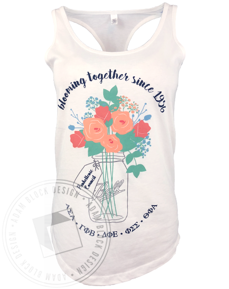 Panhellenic Blooming Together Tank-gallery-Adam Block Design