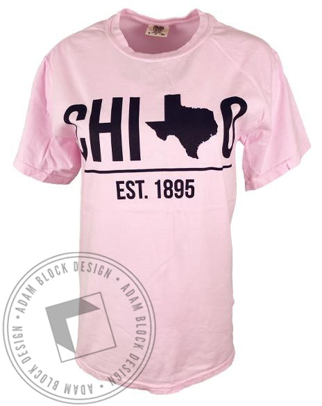 Chi Omega Texas T-shirt-Adam Block Design