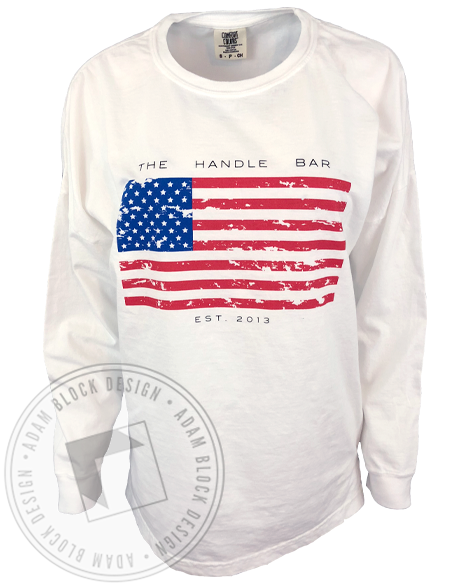 The Handle Bar Flag Long Sleeve-Adam Block Design