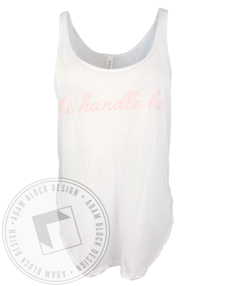 The Handle Bar Script Tank-Adam Block Design
