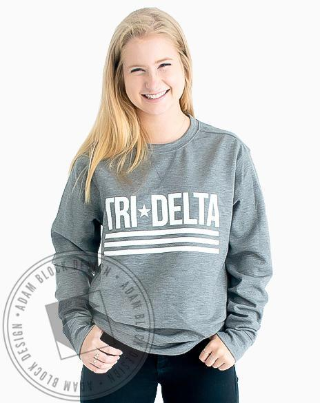 Delta Delta Delta Star and Stripes Pullover-gallery-Adam Block Design