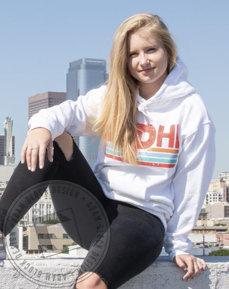 Pi Beta Phi Retro Stripe Hoody-Adam Block Design