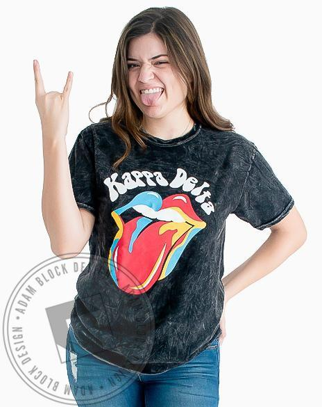 Kappa Delta Rock 'N' Roll Acid Wash Tee-Adam Block Design