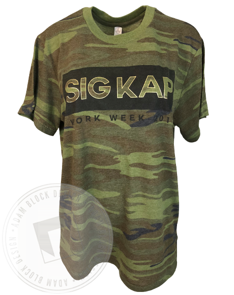 Sigma Kappa Camo Work Week T-Shirt-Adam Block Design