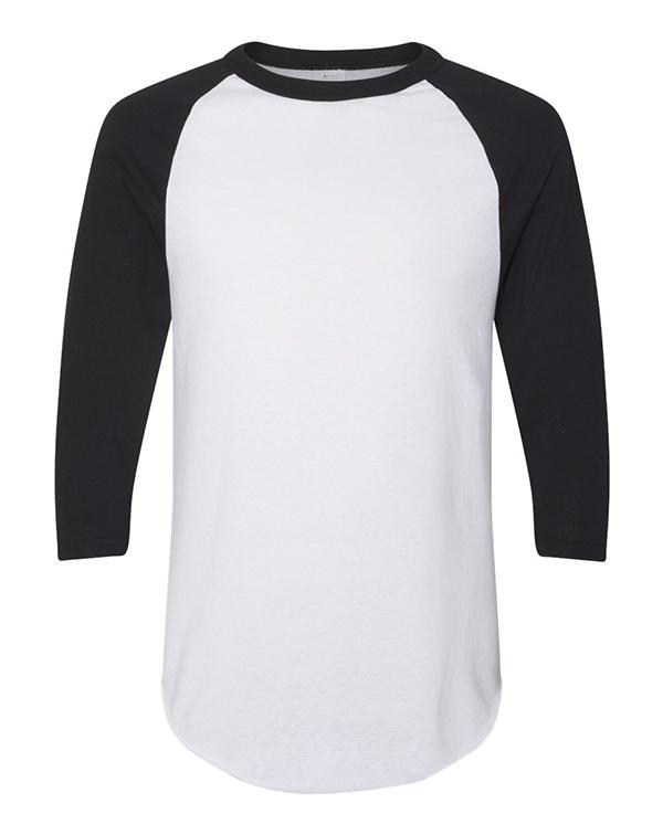 Augusta Sportswear Three-Quarter Sleeve Baseball Jersey-blank-Adam Block Design