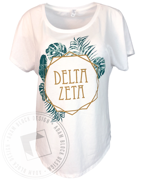 Delta Zeta Palm Leaf T-Shirt-Adam Block Design