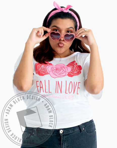 Panhellenic Fall In Love T-Shirt-Adam Block Design