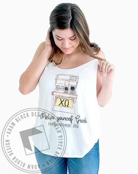 Chi Omega Picture Yourself Tank-Adam Block Design