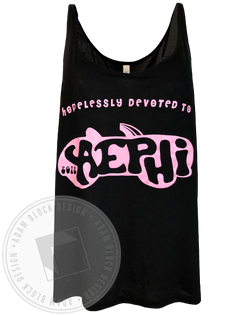 Alpha Epsilon Phi Hopelessly Devoted Tank Top-Adam Block Design