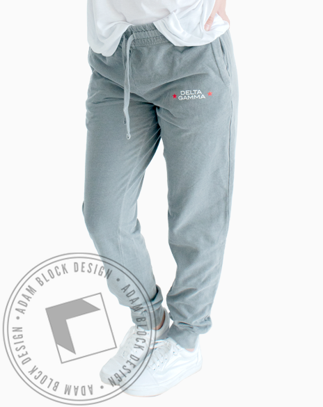 Delta Gamma Star Sweatpants-Adam Block Design