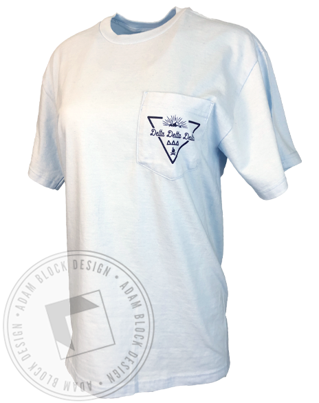 Delta Delta Delta Mountain Pocket T-shirt-gallery-Adam Block Design