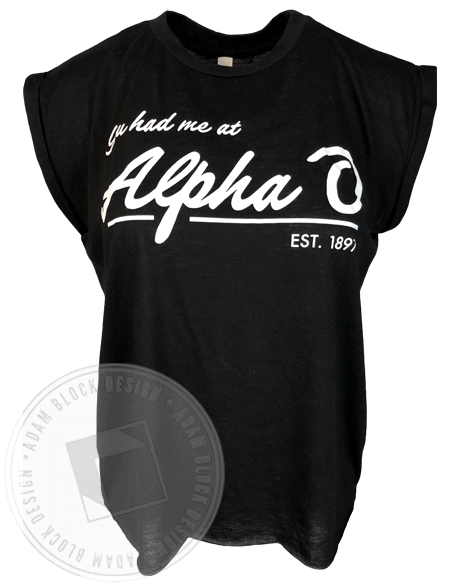 Alpha Omicron Pi You Had me Tank-Adam Block Design