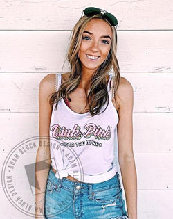 Zeta Tau Alpha Think Pink Retro Tank-Adam Block Design