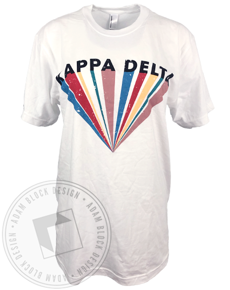 Kappa Delta Colorful Ray T-shirt-Adam Block Design