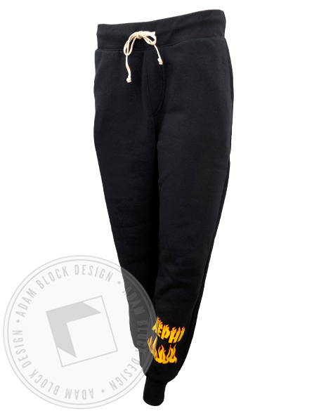 Alpha Epsilon Phi Flame Joggers-Adam Block Design