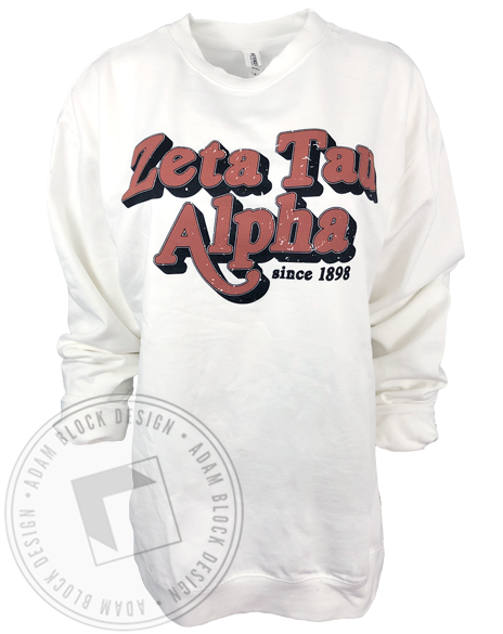 Zeta Tau Alpha Rock Sweatshirt-Adam Block Design