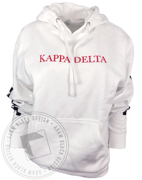 Kappa Delta Racing Stripes Hoodie-Adam Block Design