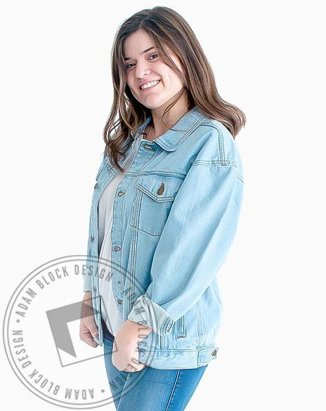 Delta Phi Epsilon Circle Jean Jacket-gallery-Adam Block Design