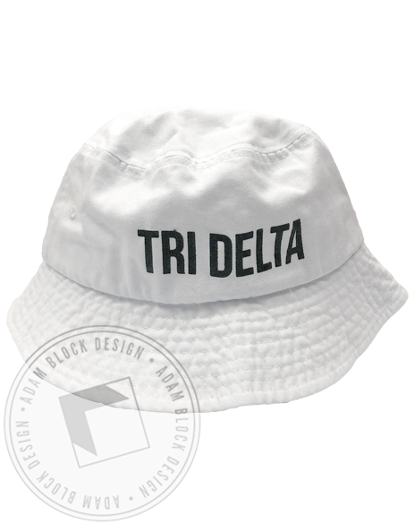 Delta Delta Delta Bucket Hat-gallery-Adam Block Design