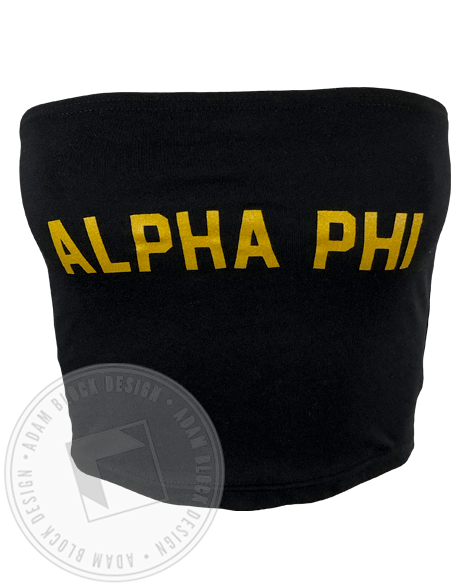 Alpha Phi Metallic Gold Tube Top-Adam Block Design