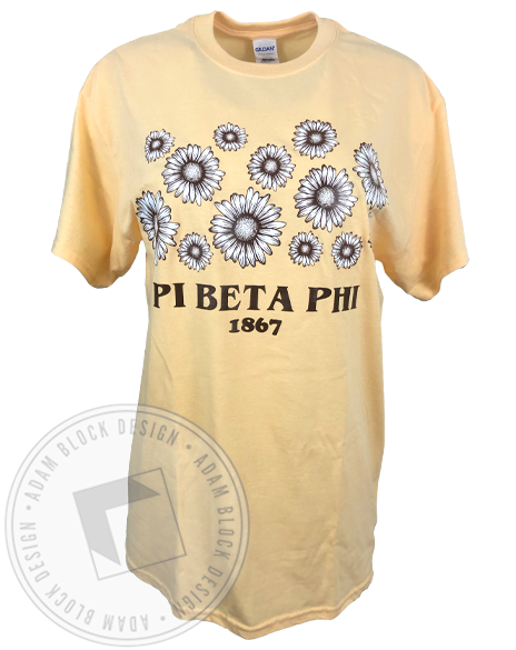 Pi Beta Phi Daisy T-shirt-Adam Block Design