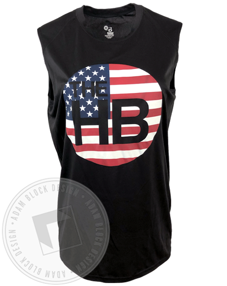 The Handle Bar Flag Muscle Tank-gallery-Adam Block Design
