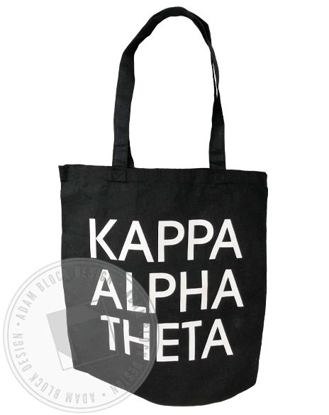 Kappa Alpha Theta Simple Name Tote-gallery-Adam Block Design