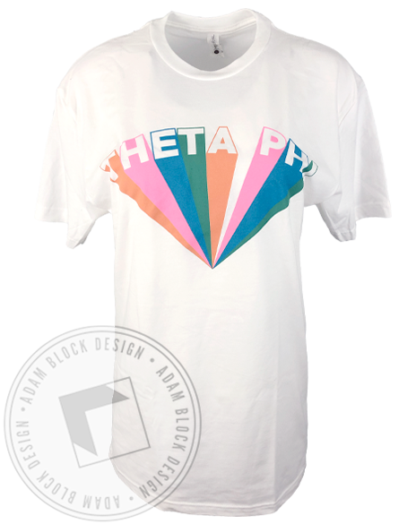 Theta Phi Alpha Colorful Ray T-shirt-gallery-Adam Block Design