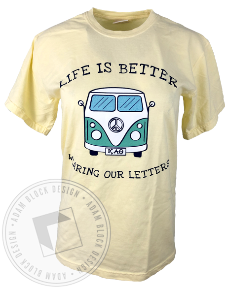 Kappa Alpha Theta Life Is Better T-Shirt-Adam Block Design