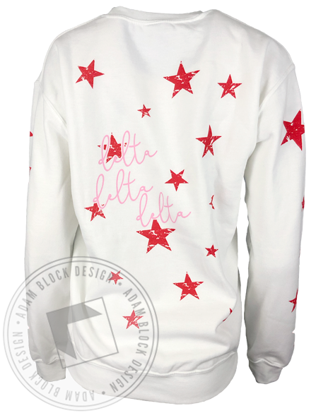 Delta Delta Delta Custom Star Sweatshirt and Sweatpants-gallery-Adam Block Design