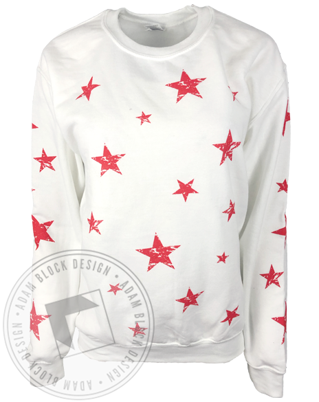 Delta Delta Delta Custom Star Sweatshirt and Sweatpants-Adam Block Design