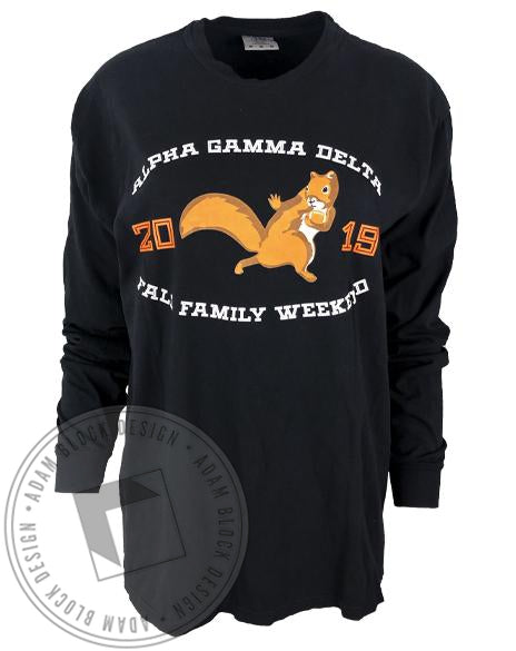 Alpha Gamma Delta Family Weekend Long Sleeve-Adam Block Design