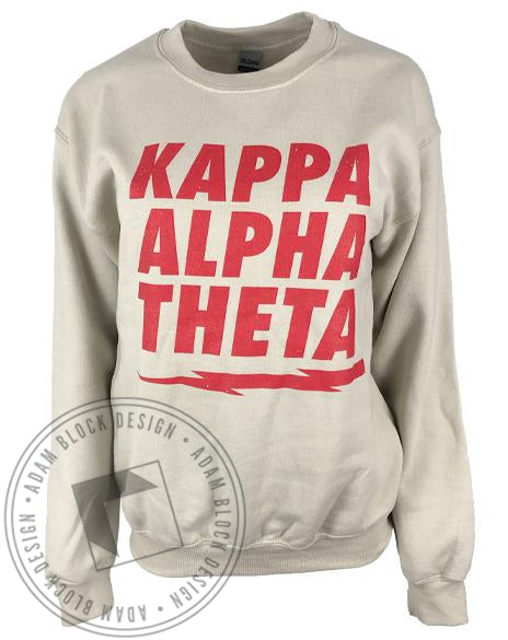 Kappa Alpha Theta Lightning Bolt Sweatshirt-Adam Block Design