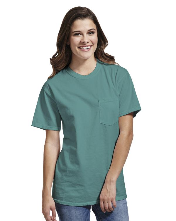 Comfort Colors Pocket T-Shirt-blank-Adam Block Design