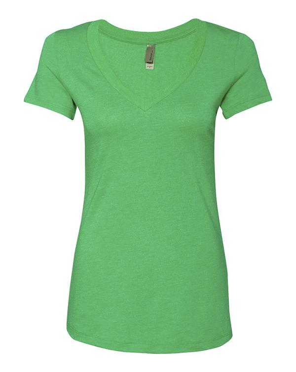Next Level Women's Triblend Deep V-neck-blank-Adam Block Design