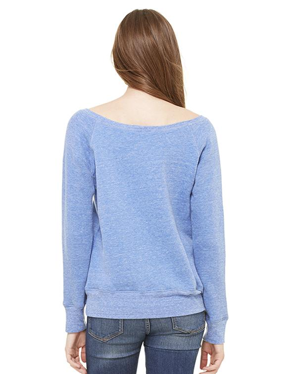 Bella Women's Sponge Fleece Wide Neck Sweatshirt-blank-Adam Block Design