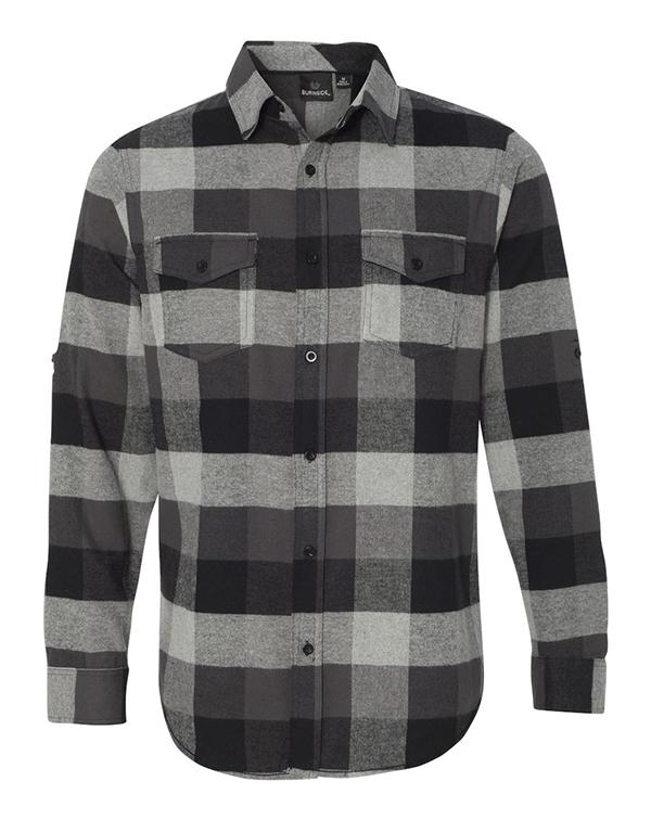 Burnside Long Sleeve Flannel Shirt-blank-Adam Block Design