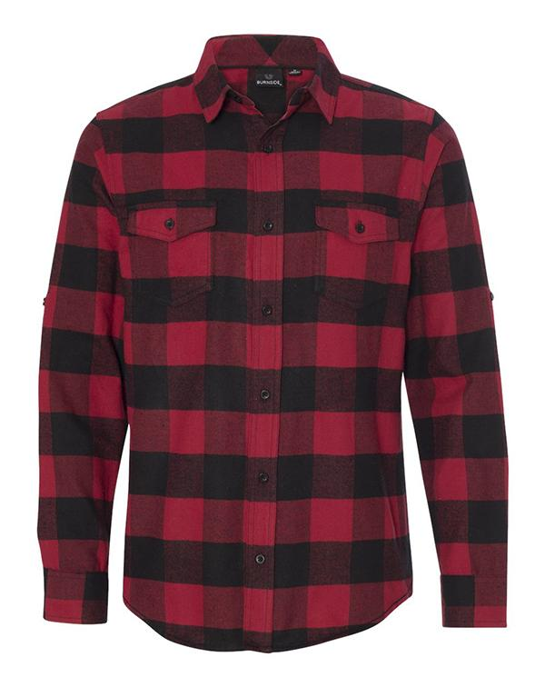 Burnside Long Sleeve Flannel Shirt-Adam Block Design