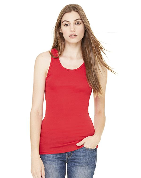 Bella Women's Sheer Mini Rib Racerback Tank-Adam Block Design