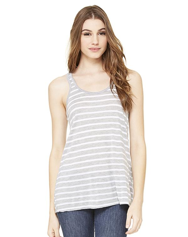 Bella Women's Flowy Racerback Tank-Adam Block Design
