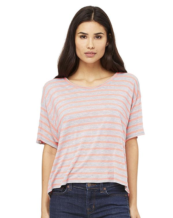 Bella Women's Flowy Boxy Tee-blank-Adam Block Design