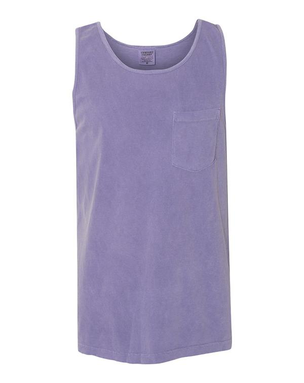 Comfort Colors Garment-Dyed Tank Top with Pocket-Adam Block Design