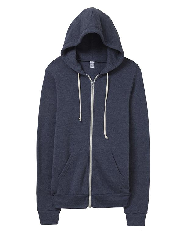 Alternative Rocky Eco-Fleece Zip Hoodie-blank-Adam Block Design